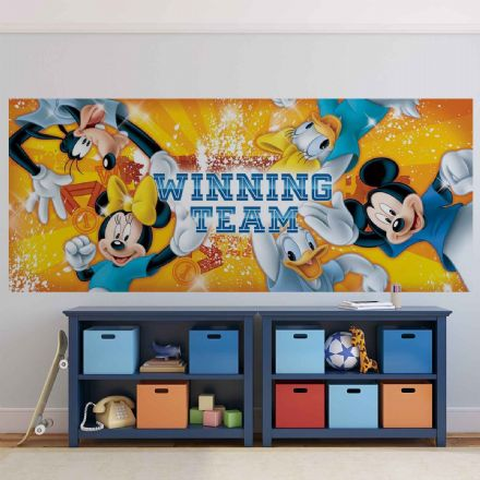 Panoramic wallpaper mural Disney Mickey Mouse 1257VEP